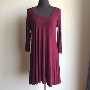 Lulu's sz M ¾ sleeve shift dress